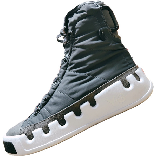 2019 Y3 Genuine Leather and Nylon Fashion Outdoors Boots 19ss Skydiving Theme Y3 Kasabaru Mix RB High Top Board Shoes