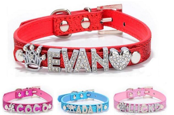 Hot dog collar, personality DIY, pet necklace, PU new bright necklace, pet dog products.20pcs/lot L046