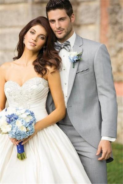 A new button, light grey groom dress, best man, wedding ball, breach SUIT (As picture )