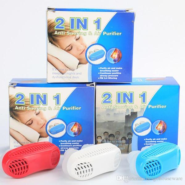 3 Renkler 2 1 Anti Durdurma Horlama Horlama Ücretsiz Manyetik Silikon Horlama Stoper Hava Temizleyici Burun Tıkanıklığı Rahatlatmak Uyku Cihazı BC BH1204