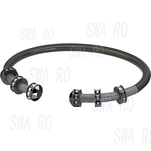 swa 2019 fall fashion new my hero black gold hoop stick shape exquisite crystal bracelet lovers recommend jewelry gifts