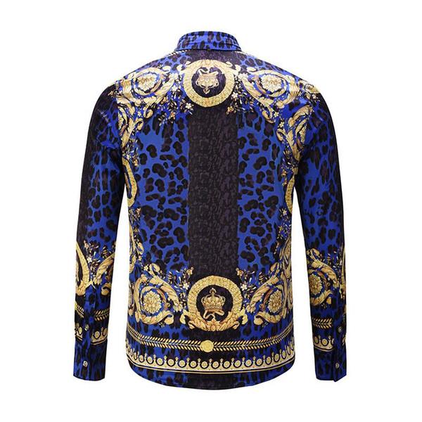 Mens Fancy nuove camice T-shirt estiva donne degli uomini di lusso Reale Barocco Corona Stampa Slim Fit