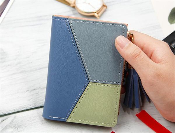 Designer Handbags Purses Fashion Short Ladies Zipper Wallet with Sulphur and Big Volume Change Card Bag Hot Sale Cute Mini Girl Purse