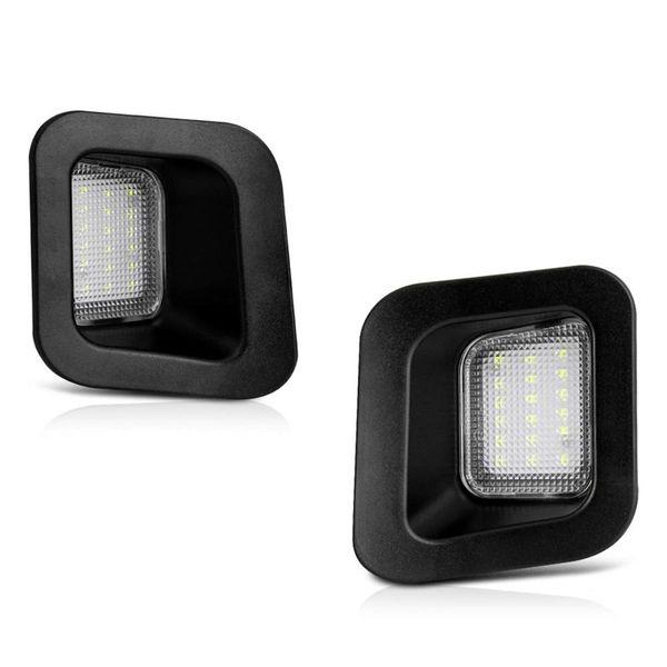 Remplacement de la lampe d'éclairage de la plaque d'immatriculation LED pour la camionnette pick-up 2003-2018 Dodge RAM 1500 2500 3500, lumières LED blanches