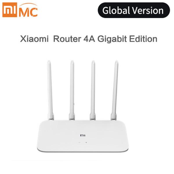 Küresel sürüm Xiaomi Mi Router 4A Gigabit Edition 100 M 1000 M 2.4 GHz 5 GHz WiFi ROM 16 MB DDR3 64 MB 128 MB 4 Antenler APP Kontrolü