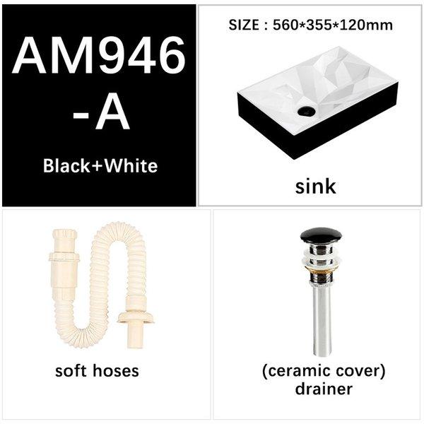Черный белый Большой