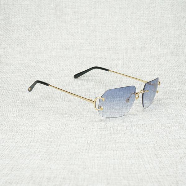 gold frame blue