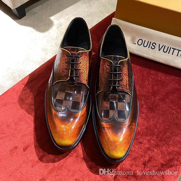 lüksTasarımcı Lüks moda erkek s sürüş ayakkabıları tatil düğün klasik gündelik ayakkabı İş deri ayakkabı moda gökkuşağı sho