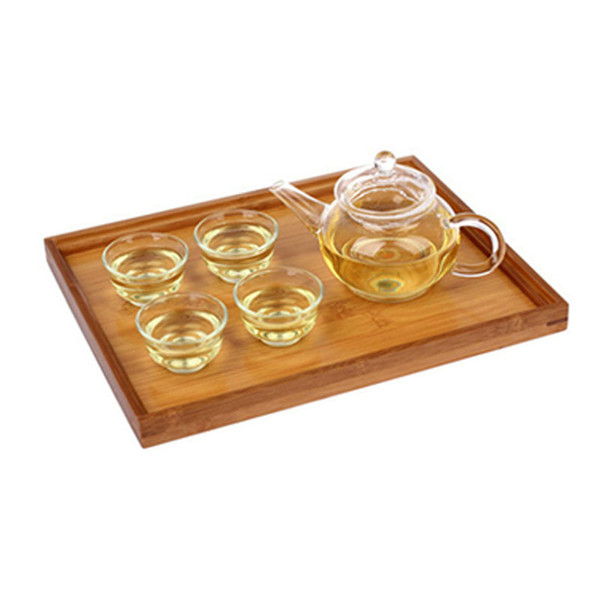 Multi Function Decoration Food Trays Hotel Serving Trays Bamboo Tea Cutlery Rectangular Tray Fruit Storage Plate Pallet Household DH1291