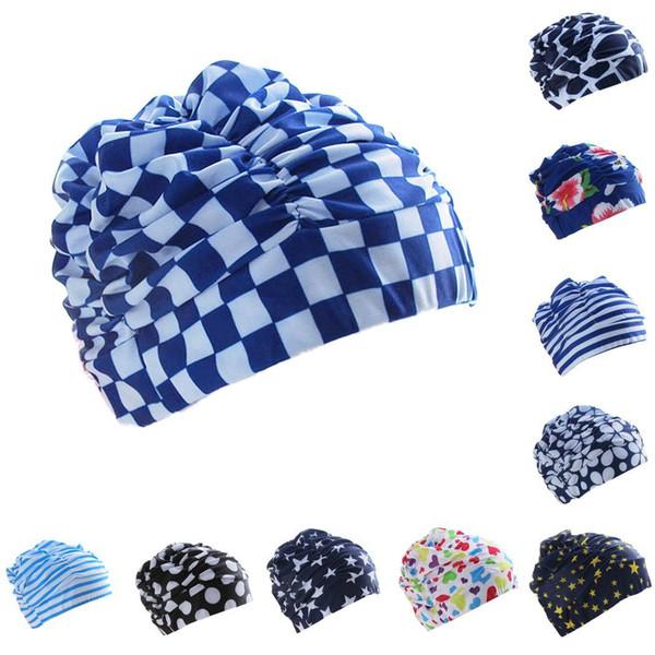 New Fashion Adulto Capelli lunghi Cuffia da nuoto in nylon pieghettato cappello da bagno elastico Nuovi accessori (cuffia da nuoto / occhiali / nuoto Circling, ecc.)