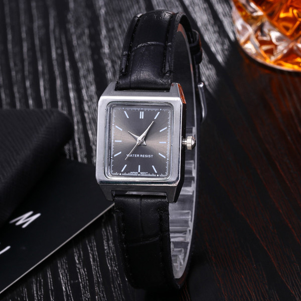 Bonito Novo Popular Barato Quadrado Pequeno Dial Relógio De Pulso De Quartzo Elegante Senhoras Casuais Negócios Relógios com caixa