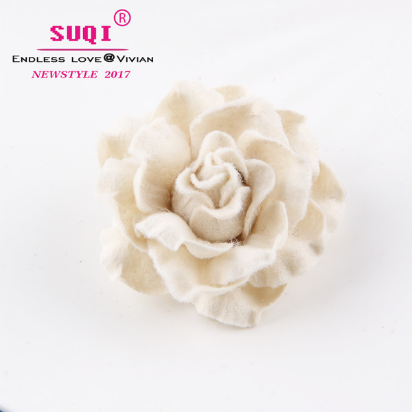 fashion Charms Quality Imitation wool Fabric Rose Flower Brooches pins for Women's Costume Accessories coat Big Brooches jewelry Ornaments