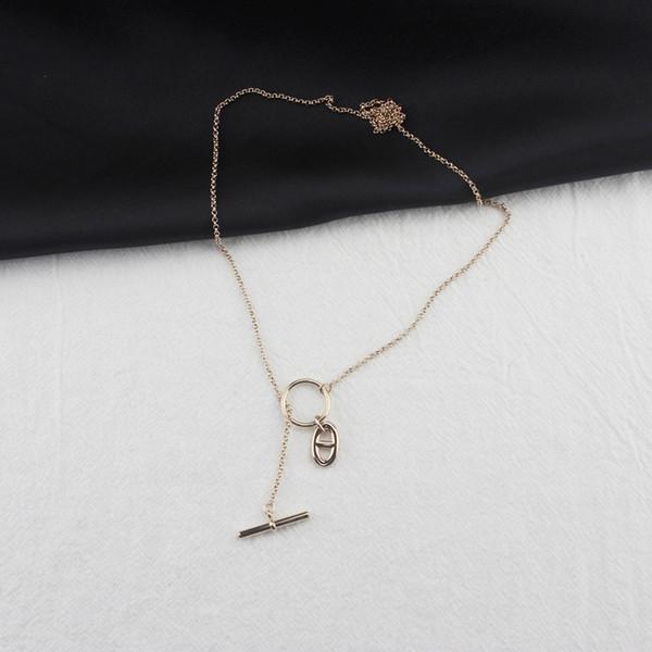 Luxus Sterling Silber Frauen Lange Halsketten schwein nase Womens Pullover Kette Charms Hochzeit Schmuck