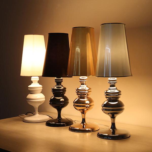 2019 Contemporary Table Lamp Retro Desk Light Luxury Hotel Villa Desk  Lighting Bedroom Living Room Bedside Led Table Lights From Lamloon, $80.51  | ...