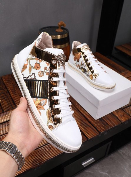 2019h spring and autumn new luxury designer trend men's sports shoes, high-end quality fashion wild casual shoes, size: 38-44
