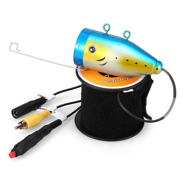 Caméra de pêche sous-marine 1200TVL 24 LED vision nocturne caméra de pêche sur la glace de bateau de pêche étanche avec 15m / 30m / 50m câble