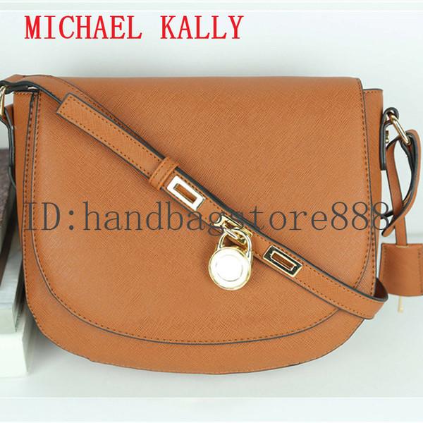 High quality lock handbag fashion women famous brand MICHAEL KALLY crossbody bag luxury designer saddle purse lady hasp message bags female