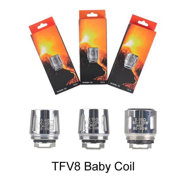TFV8 Baby Coil Cabeza Reemplazo T8 X4 T6 Q2 M2 Tanque Bestia Bobina para Sub Ohm Tank TFV8 Baby tank
