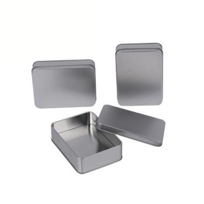 2019 Rectangular Hinged Containers With Lid Metal Mini Empty Tin Box Wear Resistant Storage Organizer Badge box