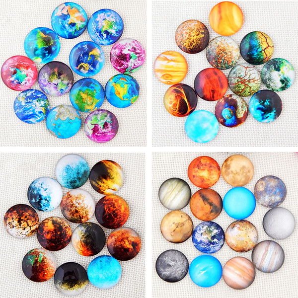 50PCS Mixed Time Gem Nine Planets Snap Button Jewelry Charm Fit For 18mm DIY Snap Bracelet&Necklace Jewelry For Christmas Gift