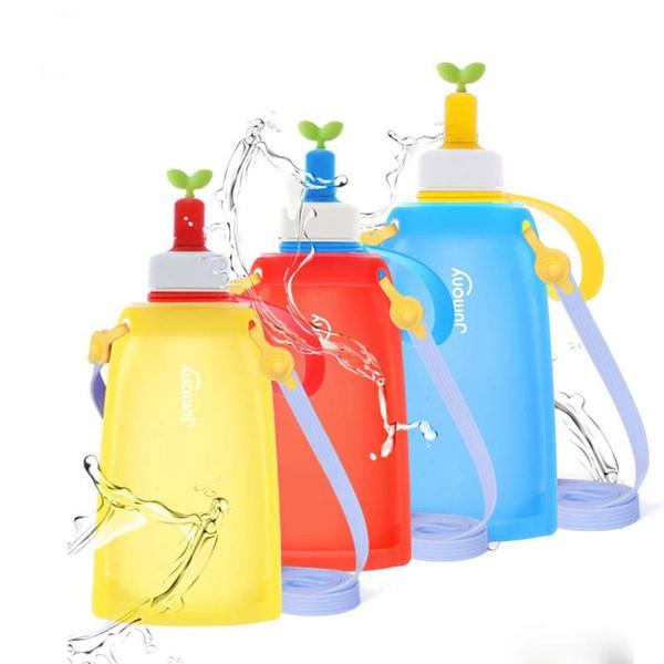 Platin Silika Jel Su Şişesi Yükseltildi Sürüm Çocuklar Yumuşak Spor Su Bardağı Kız Sağlıklı Spor Su Şişeleri Erkek Doğum Günü Hediyeleri