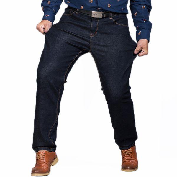 Big Size 44 46 48 Baggy Jeans da lavoro Stretch Homme Fashion Casual Nero Blu Jeans Uomo Masculina Cowboy Biker Pantaloni da uomo