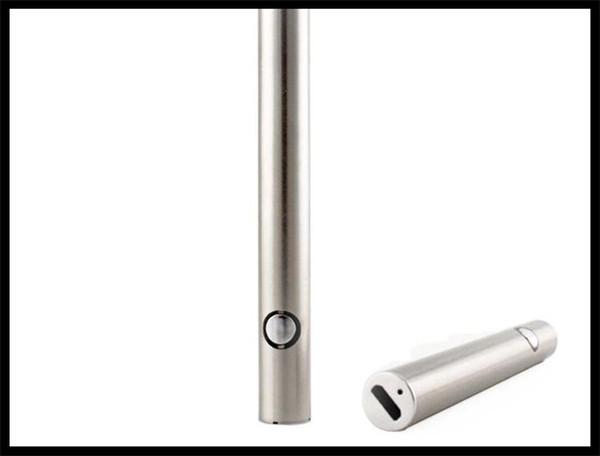 vaporizzatore 510 sigaretta elettronica batteria max preriscaldamento VV smoking usb passa attraverso nero / argento colori super qualità bud penna e cig