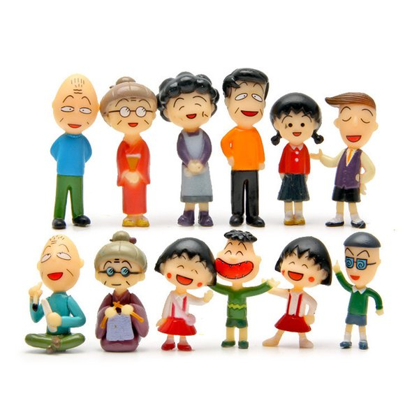 free shipping wholesale action figure mini toy cake topper Chibi Maruko promotion gift toys for girls