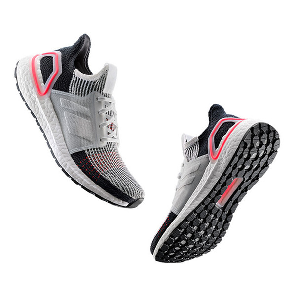 High Quality Ultra Boost 2019 Multicolor Laser Red Oreo Refract Dark Pixel Shoes Men Women UltraBoost 19 UB 5.0 Black White Multi Sneakers Wedge Shoes