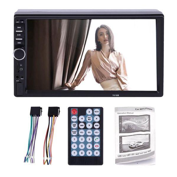 7inch 2 DIN в тире LCD HD с сенсорным экраном Автомобильный стерео радио MP5-плеер с AUX LED / LCD Цветной дисплей пульта дистанционного управления