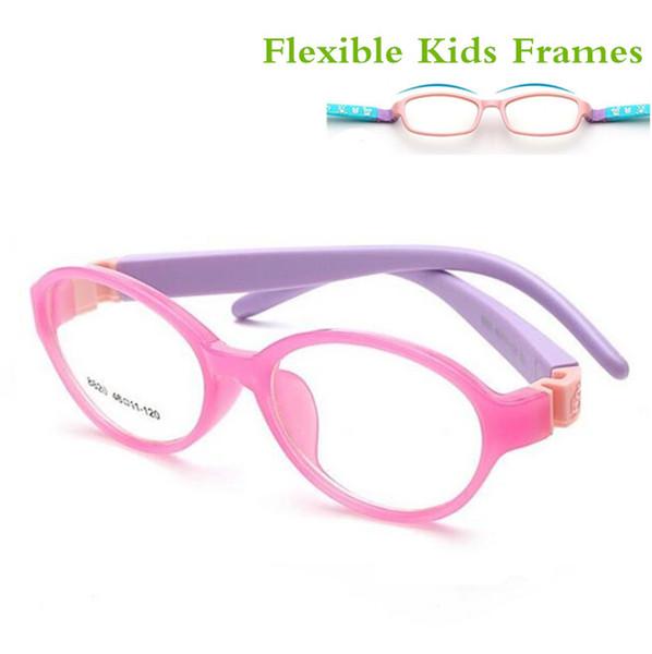 Ayrılabilir Kauçuk Bacak Çocuk Gözlük Gözlük Çocuk Çerçeveleri Çocuklar için Optik Gözlük Hiçbir Vida Güvenli TR Sınıf Miyopi Lens