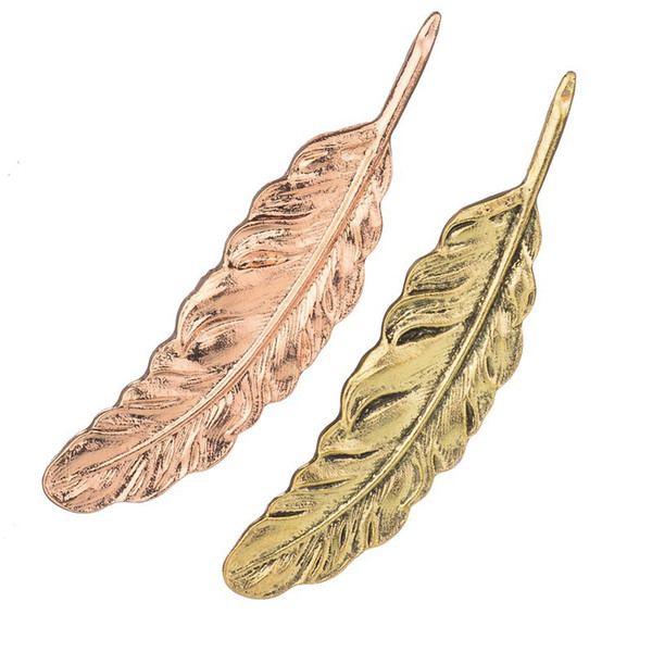 2019Gold Feather Suit Women Broaches Leaves Hijab Pins Wedding Brooch Men Brooches Pin Flower Lapel Pins For Women b215