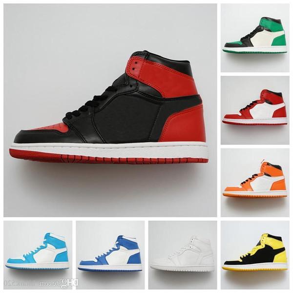 Новый 1 Og High Banned Черный Красный Белый Желтый Мужская Баскетбольная Обувь 1S Женская Обувь Мода Ретро Кроссовки Дизайнерские Кроссовки Chaussures Размер 13
