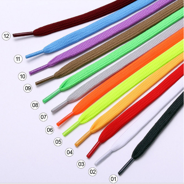 10mm Wide of Flat Shoelaces Shoe Laces for Sneakers Sport Shoes 12 Colors 120cm for Sneaker Boots Strings