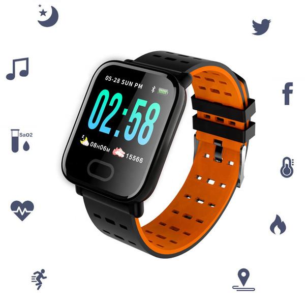 Academia Pulseira Heart Rate Monitor Sports Activity Rastreador Assista sono Monitor de Sangue Calorie contrapressão pedômetro Pulseiras