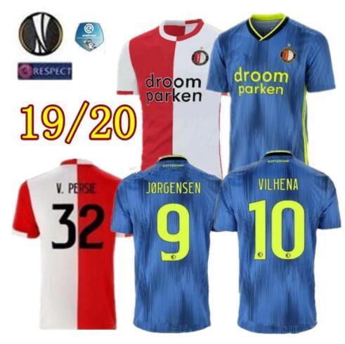 2019 2020 Feyenoord maillot de football pour adulte V.PERSIE 19 20 BERGHUIS VILHENA JORGENSEN FEYENOORD CHEMISE de football pour adulte