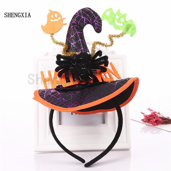 New Halloween Spider Hat Witch Hat Headband Ghost Bat Hair accessories Decoration Adult Children's Role play Headwear