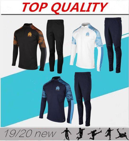 2020 Olympique de Marseille Trainingsanzug Fußball Trainingsanzug Maillot De Foot 19/20 PAYET THAUVIN OM Jogging-Trainingsanzug für Fußballjacken
