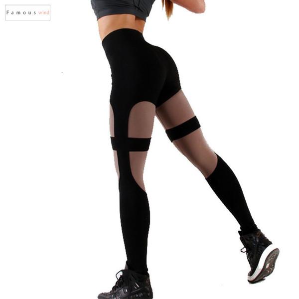 Patchwork-hohe Taillen-Gamaschen-Frauen Fitness Workout Gamaschen Gothic Black Fashion Leggins Mujer Jeggings gute Qualität