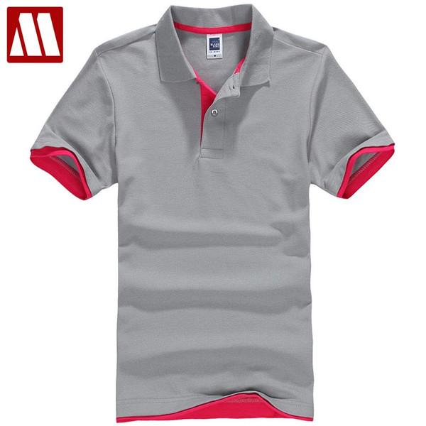 Maglietta degli uomini del cotone solido Large Size XXXL Grigio Nero Bianco Maglietta Top Tees Manica corta T-shirt estate In vendita 2017 XS ~ XXXL