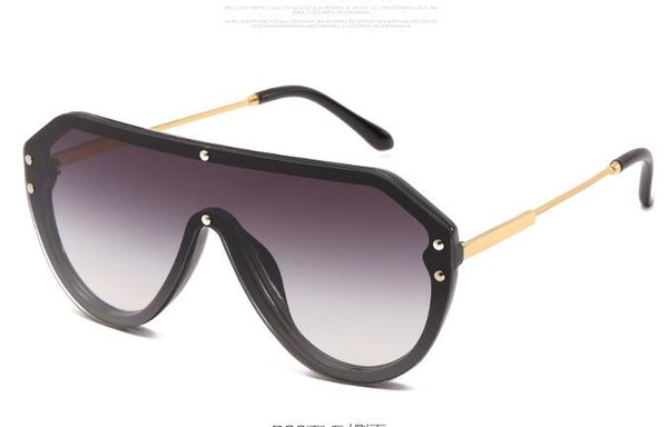New fashion Sunglasses, European and American fashion, piece of sunglasses, net red, sunglasses, semi-metal free shipping hot selling
