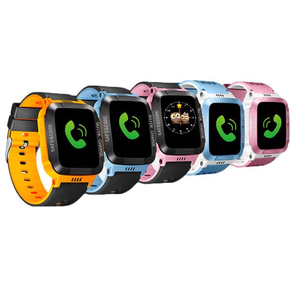 Умные Часы Мужчины Водонепроницаемый Smartwatch для Детей Безопасности Анти-потерянный Пульт Дистанционного Управления Сенсорный Экран GPS Трекер SIM Call Phone SOS