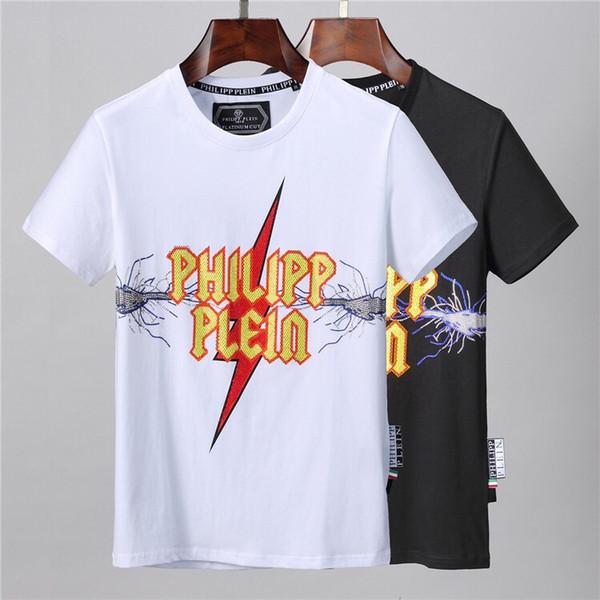 Erkekler 2019 Yeni Geliş Yaz Üst Tees Kısa Kollu Erkek Giyim için Sıcak Satış Tasarımcı T Gömlek Katı Renk Marka Gömlek Plus Size M-3XL A4