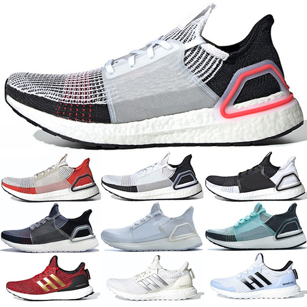 Adidas Ultra Boost 19 Descuento 2019 Ultra Boost Hombres Mujeres Zapatillas De Running Ultraboost 5.0 Triple Blanco Láser Rojo Oreo Athletic Sport