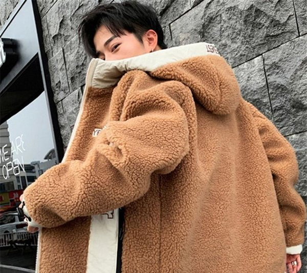 Mens Designer Jacket Fashion Letter Teenager Lambs Wool Winter Jacket Long Sleeve Plus Size Mens Coats