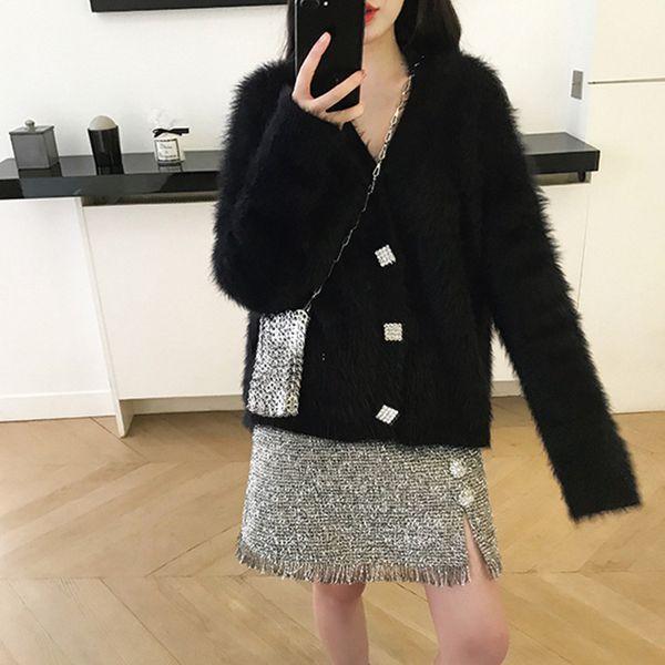 Web celebrity in same lazy wind of new fund of 2018 winter web celebrity sweet little fresh cardigan sweater coat