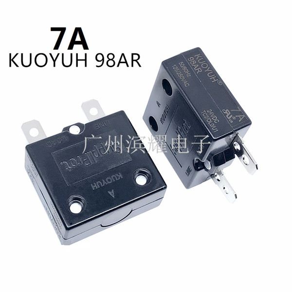 top popular Taiwan KUOYUH 98AR-7A Overcurrent Protector Overload Switch Automatic Reset 2021