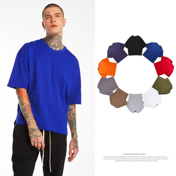 Nouvel été T-shirts en vrac pour hommes surdimensionnés Streetwear Tops Chemises T-shirt manches 5 Casual Casual hommes solides T-shirt à manches courtes Plus Size Clothing