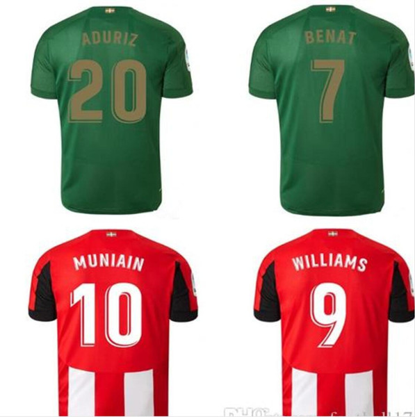 19 20 Athletic Bilbao Club Home soccer jerseys 2019 2020 Aduriz Williams Sola Muniain soccer shirts man kids kit football uniform