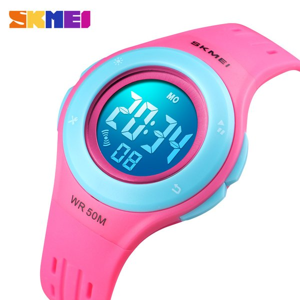 Children Boys Girls Led Digital Sports Watches Plastic Kids Alarm Date Casual Watch Select Gift For Kid Skmei 2018 C19041301